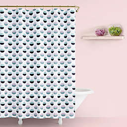 kate spade new york Half Dot Shower Curtain in Lavender