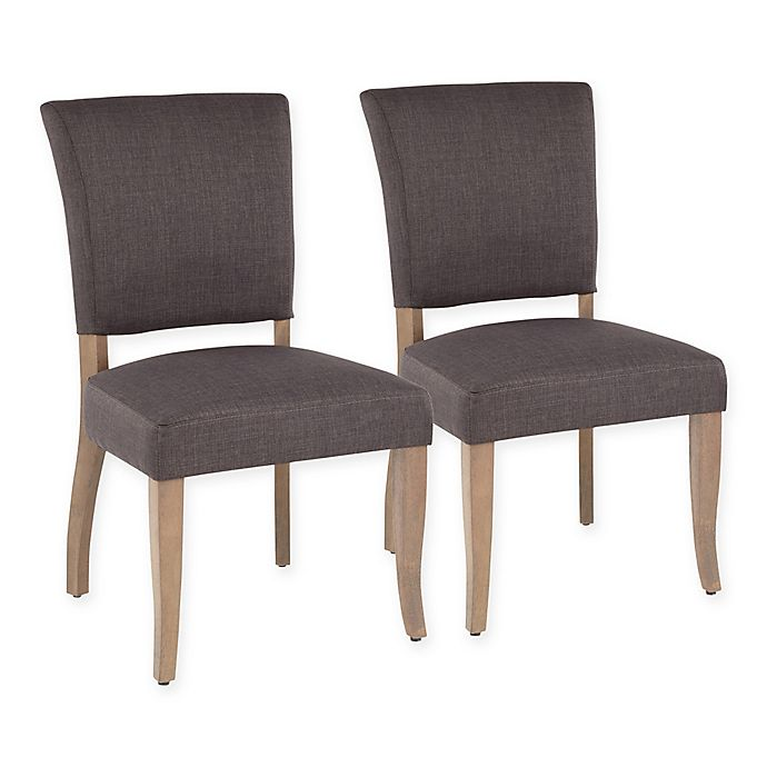 Alternate image 1 for Lumisource® Polyester Upholstered Rita Dining Chairs in Grey (Set of 2)