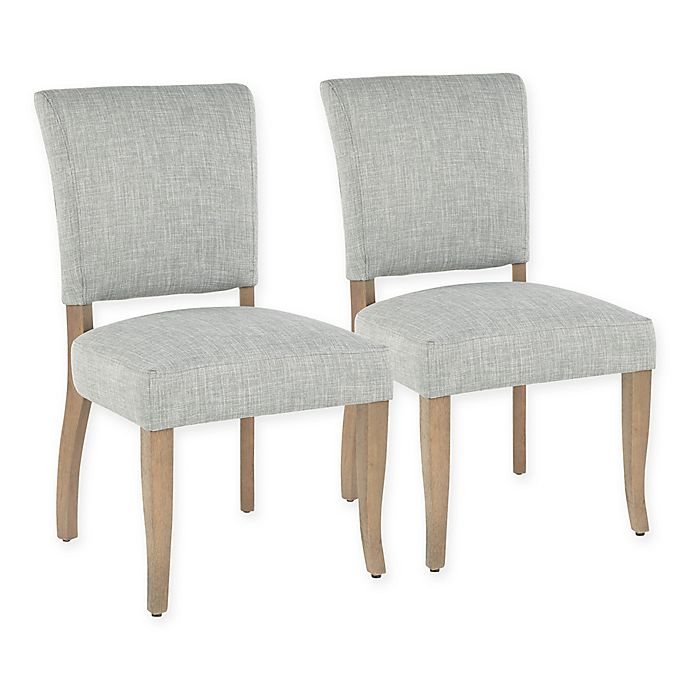 Alternate image 1 for Lumisource® Polyester Upholstered Rita Dining Chairs in Green (Set of 2)