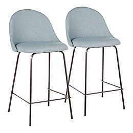 Lumisource® Polyester Upholstered Lana Bar Stools (Set of 2)