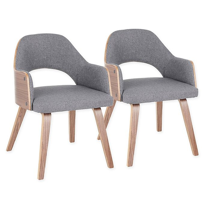 Alternate image 1 for Lumisource® Polyester Upholstered Rollo Dining Chairs in Grey (Set of 2)
