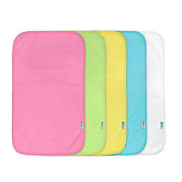 green sprouts® 5-Pack Waterproof Absorbent Girls Terry Burp Pad