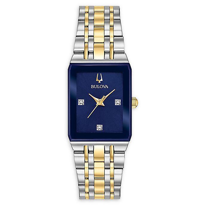 Alternate image 1 for Bulova Quadra Women's 20.5mm x 32mm 98P177 Diamond Watch