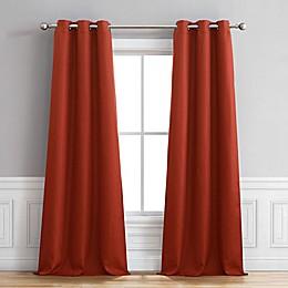 Henley Grommet Window Curtain Panel Pair