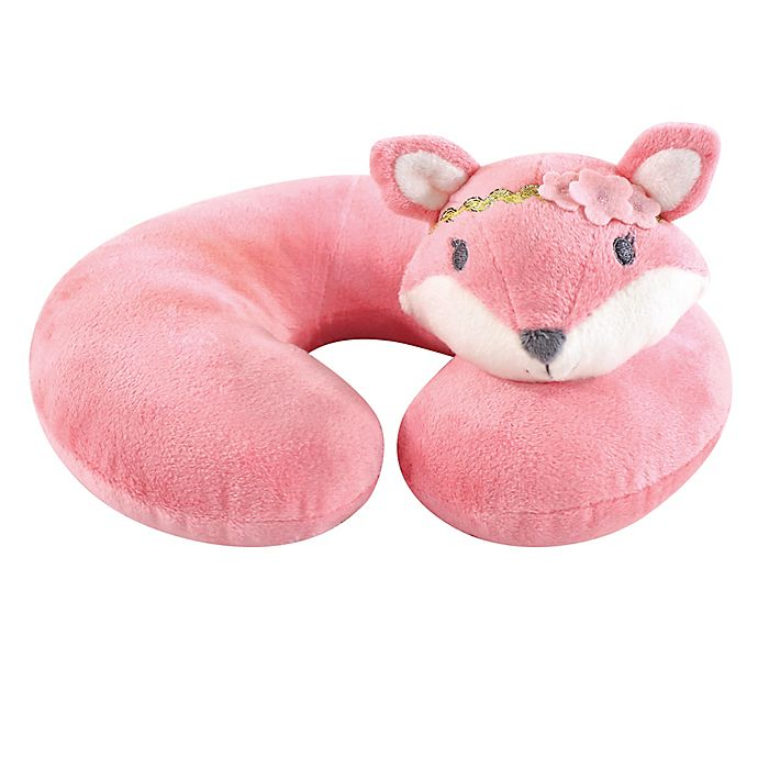 Alternate image 1 for Hudson Baby® Miss Fox Baby Head/Neck Support Pillow in Pink