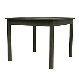Vifah Renaissance 35-Inch Square Patio Dining Table in Grey
