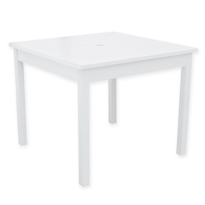 Alternate image 1 for Vifah Bradley 35-Inch Square Patio Dining Table in White