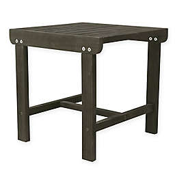 Vifah Renaissance Patio Side Table in Grey