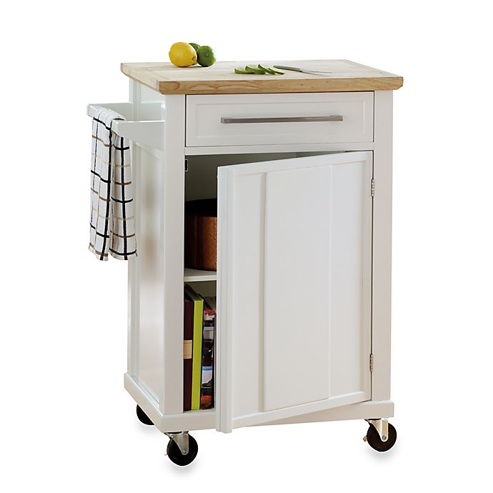 Alternate image 1 for Real Simple® Rolling Kitchen Cart
