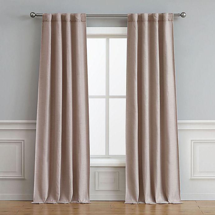 Alternate image 1 for Astrid 2-Pack 84-Inch Rod Pocket/Back Tab Room Darkening Window Curtain in Rose Smoke