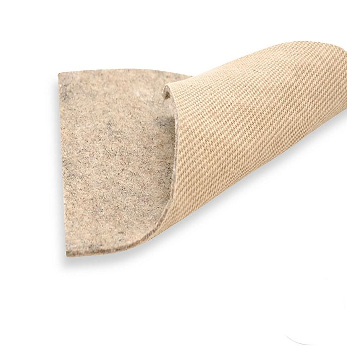 Alternate image 1 for American Fiber Cushion 9-Foot x 12-Foot Indoor/Outdoor Non-Slip Area Rug Pad in Grey