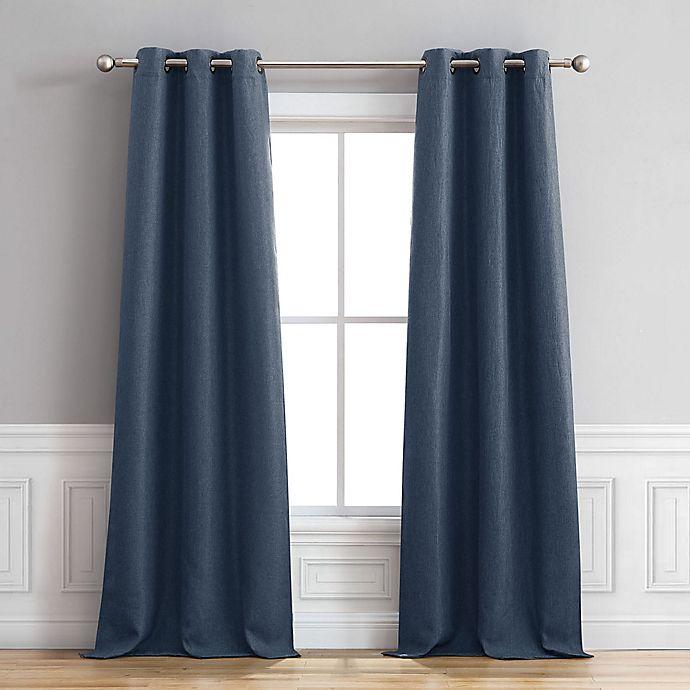 Alternate image 1 for Henley 84-Inch Grommet Window Curtain Panel Pair in Indigo