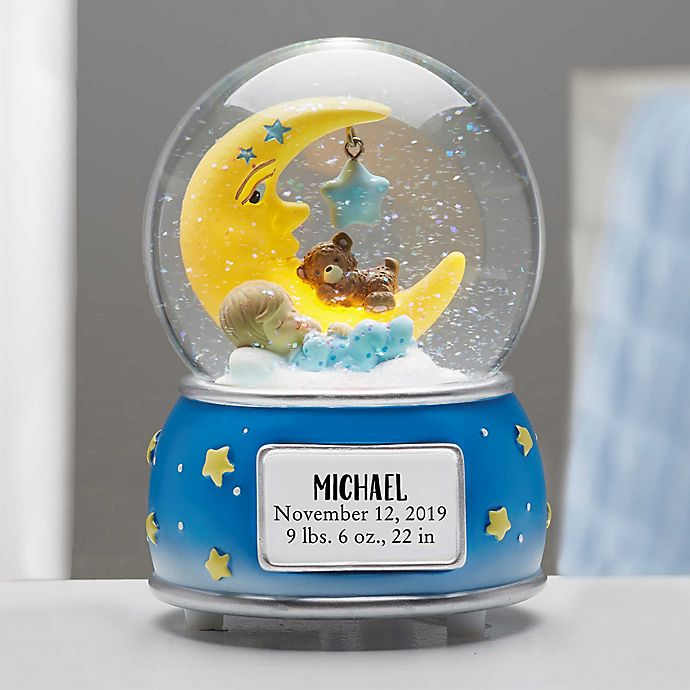 Alternate image 1 for Baby Boy Personalized Musical & Light Up Snow Globe