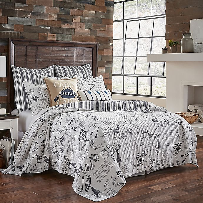Alternate image 1 for Levtex Home Lake Life King Quilt in Grey