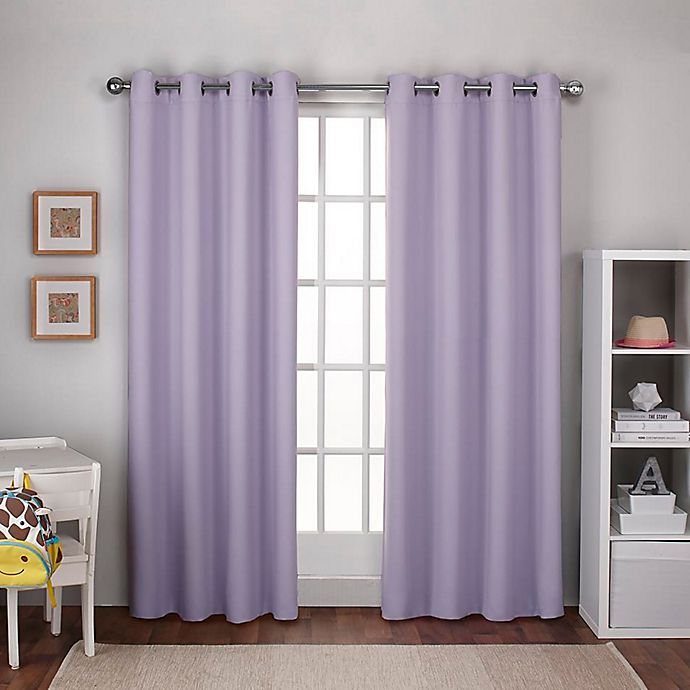 Alternate image 1 for Textured Woven Grommet Room Darkening Thermal Window Curtain  (Set of 2)