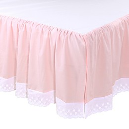 The Peanut Shell™ Farmhouse Crib Skirt in Pink