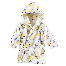 Luvable Friends® Size 0-9M Floral Fleece Bathrobe in Yellow