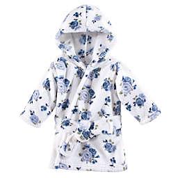 Luvable Friends® Floral Fleece Bathrobe in Blue