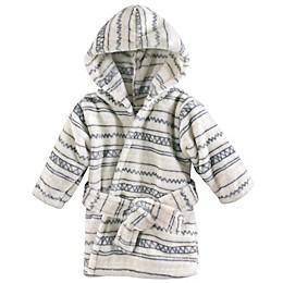 Hudson Baby® Aztec-Inspired Fleece Bathrobe in Grey