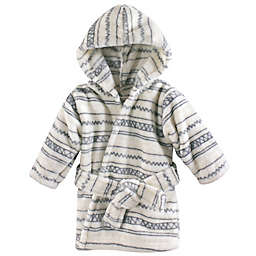 Hudson Baby® Aztec-Inspired Fleece Bathrobe in Grey