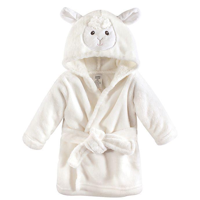 Alternate image 1 for Luvable Friends® Lamb Bathrobe in White