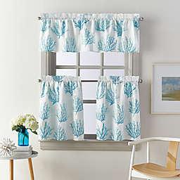 Coastal Living® Cocoa Beach Window Curtain Tier Pair and Valance