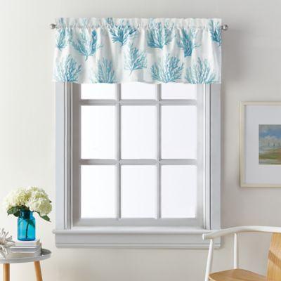 Coastal Living Cocoa Beach Window Valance in Blue Bed