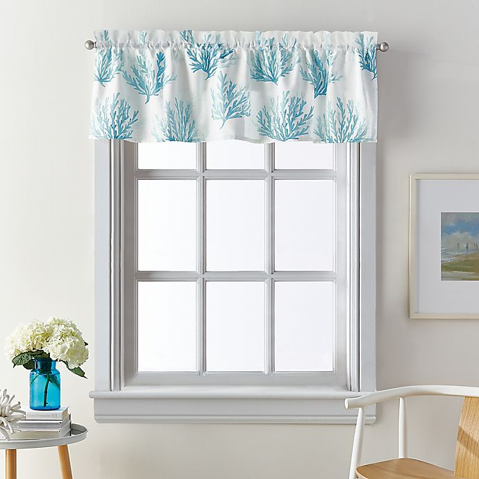 Alternate image 1 for Coastal Living® Cocoa Beach Window Valance in Blue