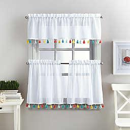 Coastal Living® Boho Tassel Window Curtain Tier Pair and Valance