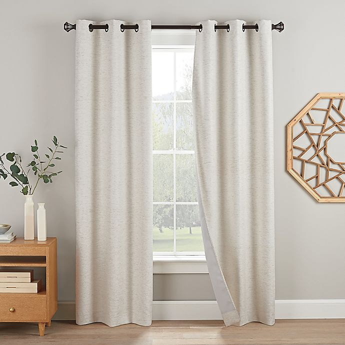 Alternate image 1 for Eclipse Duvall 2-Pack Grommet Blackout Window Curtain Panels