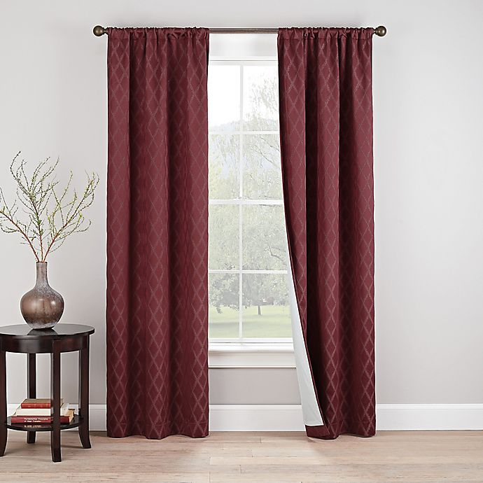 Alternate image 1 for Eclipse Godfrey 2-Pack Rod Pocket 100% Blackout Window Curtain Panels