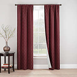 Eclipse Godfrey 2-Pack Rod Pocket 100% Blackout Window Curtain Panels