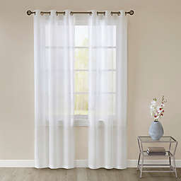 SALT™ Lora 2-Pack 108-Inch Grommet Sheer  Window Curtain Panels in White