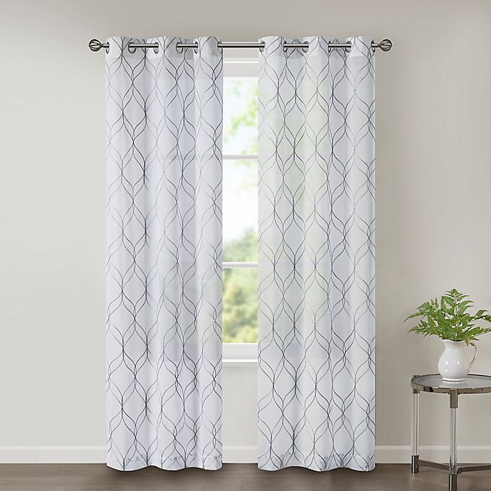 Grommet Sheer Window Curtain Panels