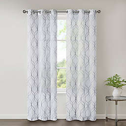 SALT™ Corwin Grommet Sheer Window Curtain Panel Pair