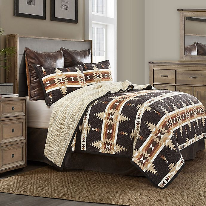 Alternate image 1 for HiEnd Accents Yosemite Reversible Queen Quilt Set