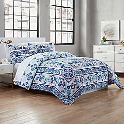 Garment Washed 3-Piece Reversible Comforter Set