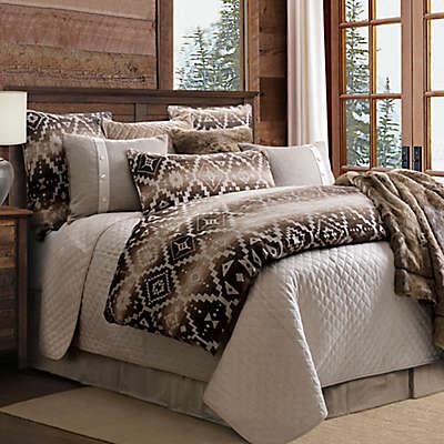 HiEnd Accents Aztec Chalet Reversible Comforter Set