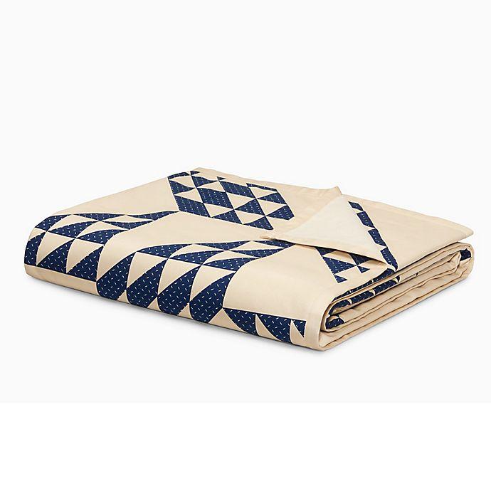 Alternate image 1 for Calvin Klein Vintage Eight-Point Star Throw Blanket in Blue