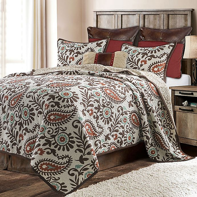 Alternate image 1 for HiEnd Accents Rebecca Reversible Quilt Set