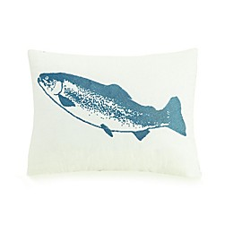 Mary Jane's Home My Fish Oblong Throw Pillow in Blue