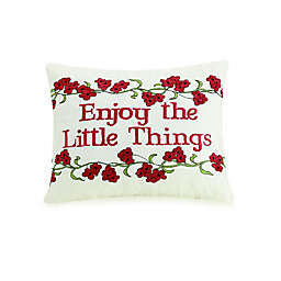 """Mary Jane's Home """"Enjoy The Little Things"""" Oblong Throw Pillow"""