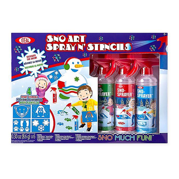 Alternate image 1 for Ideal® Sno Toys Art Spray N' Stencil Kit