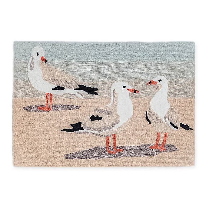 Alternate image 1 for Liora Manne Gulls Sand 2' X 3' Tufted Accent Rug in Beige