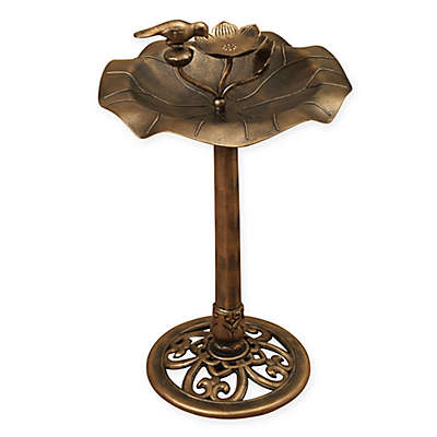 Gerson® Lotus Birdbath in Bronze