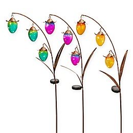 Gerson® Solar Lighted Flower Bud Yard Stakes (Set of 3)