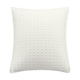 Bridge Street Zoe Square Throw Pillow in Ivory