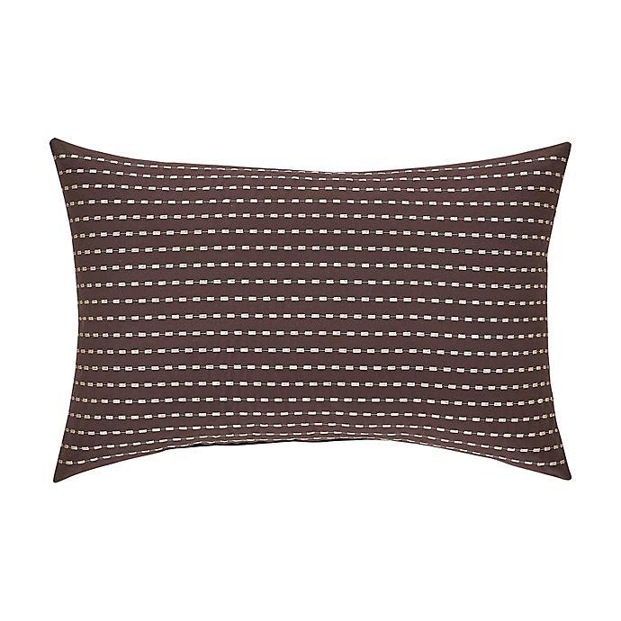 Alternate image 1 for J. Queen New York™ Okemo Boudoir Throw Pillow in Chocolate