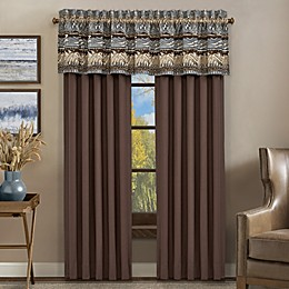 J. Queen New York™ Okemo Rod Pocket 84-Inch Window Curtain Panel Pair in Chocolate