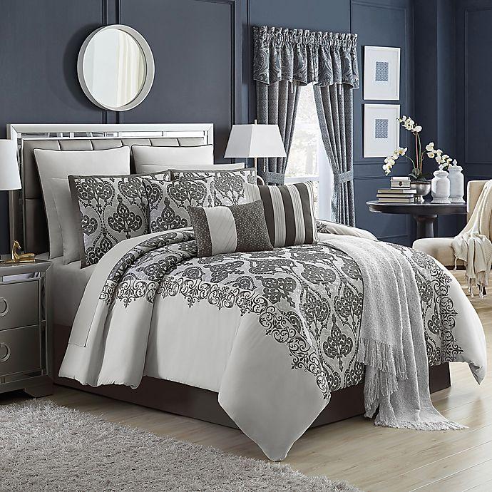 Alternate image 1 for Parker 14-Piece Queen Comforter Set in Silver/Grey